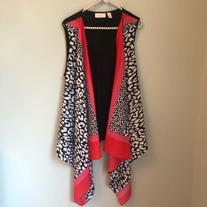 Chico's Waterfall Vest Size 2
